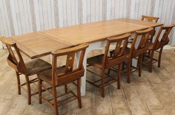 extending oak farmhouse table-fto