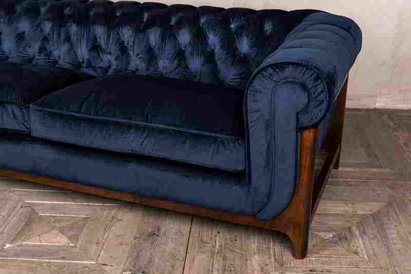 velvet chesterfield sofa uk