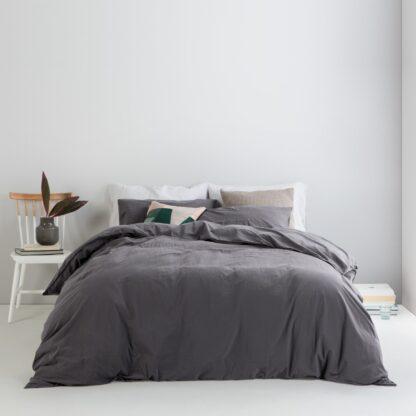 Alexia Stonewashed Cotton Duvet Cover + 2 Pillowcases