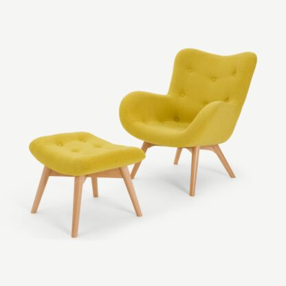 Doris Accent Armchair and Footstool
