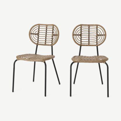 Swara Garden set of 2 Garden Dining Chairs