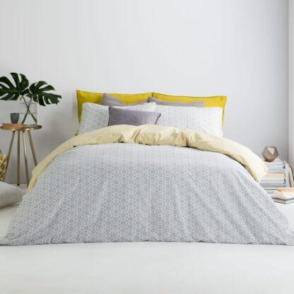 Trio Cotton Reversible King Duvet Cover + 2 Pillowcases